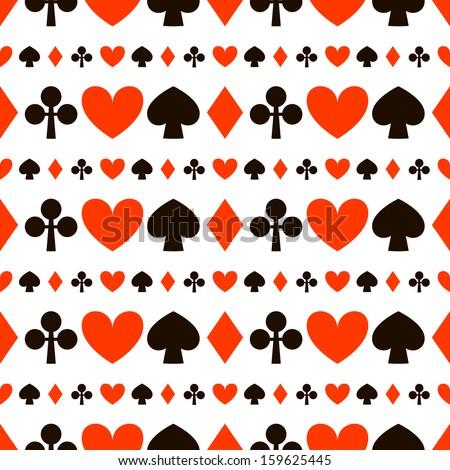 Seamless texture poker symbols. - stock vector
