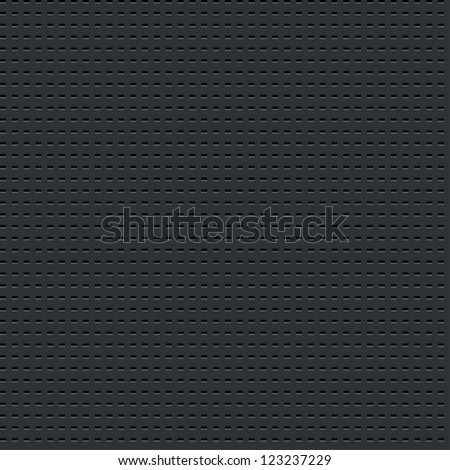 Seamless texture subtle pattern perforated metal tile surface with rectangle hole dark gray background. Contemporary swatch modern style. Web design elements vector illustration in 8 eps - stock vector