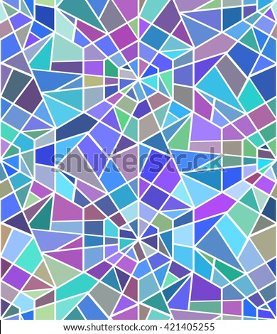 Seamless texture with a broken stained glass. Vector background. Seamless pattern. Broken window - stock vector