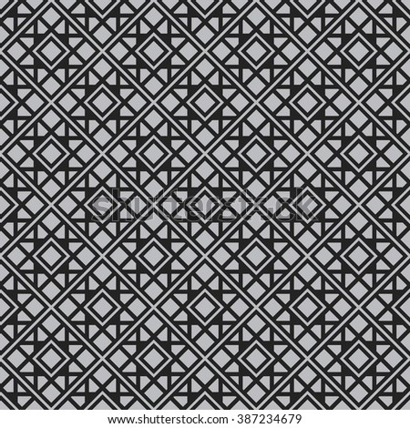 Seamless texture with arabic geometric ornament. Vector pattern - stock vector