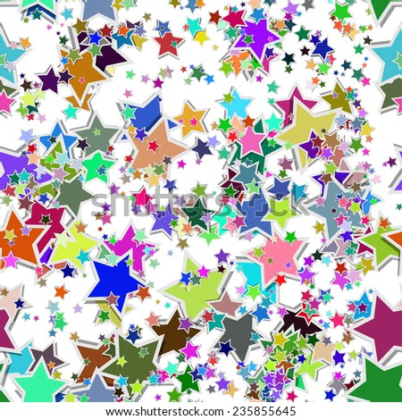 seamless texture with colors stars - stock vector