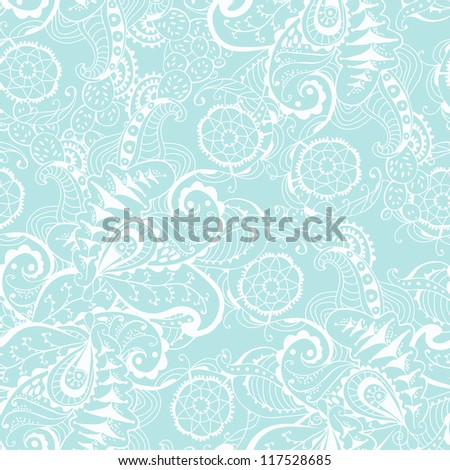 Seamless texture with hand drown ornament - stock vector