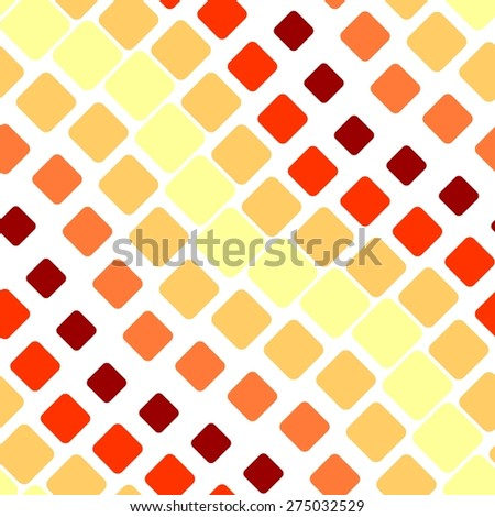 Seamless texture with hot rounded tiles on white - stock vector