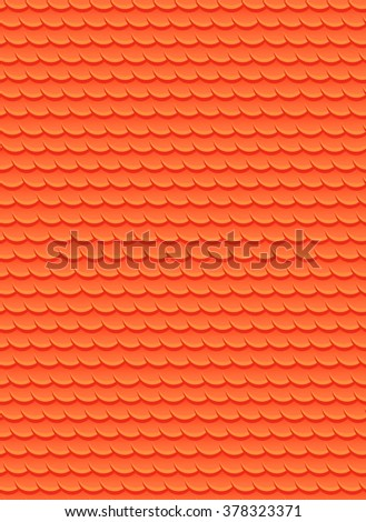 Seamless texture with red fish scales. Vector background for your design - stock vector