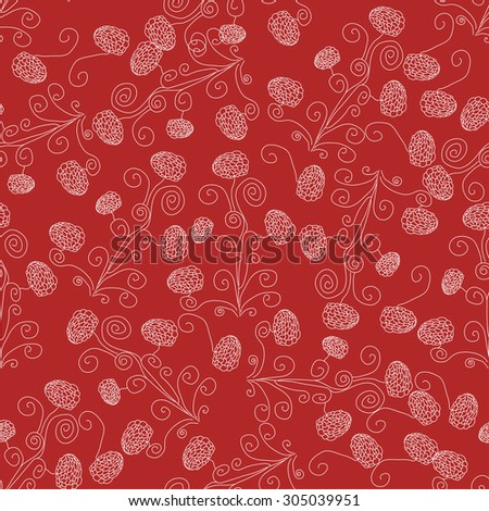 seamless texture with white flowers on red background. eps 10 - stock vector