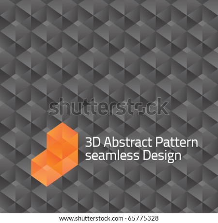 seamless tilable gray 3d isometric cube pattern