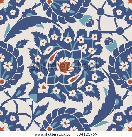 Seamless Tile Pattern, Turkish - stock vector