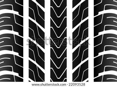 Seamless Tile Tire Tread - stock vector
