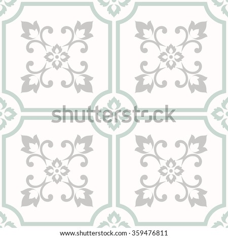 seamless tile with Victorian motives - stock vector