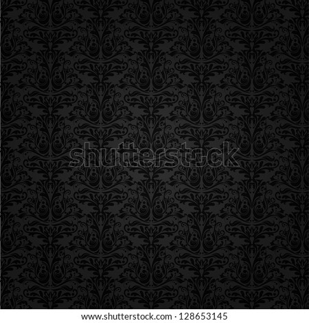 Seamless tiled background of a Damask pattern - stock vector