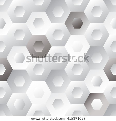Seamless tiled hexagon background with repeating design - stock vector