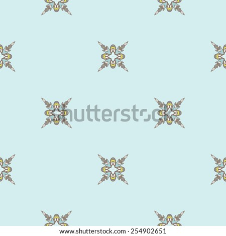 Seamless tiled pattern Royal luxury classical damask vector design - stock vector