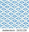 Seamless tiling, hand painted pattern. Part of a seamless tiling collection. - stock vector