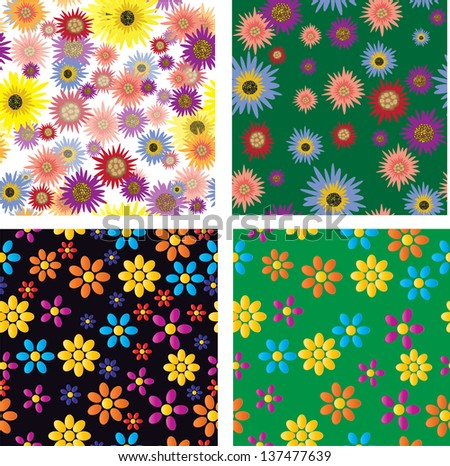 seamless tiny floral seamless pattern - stock vector