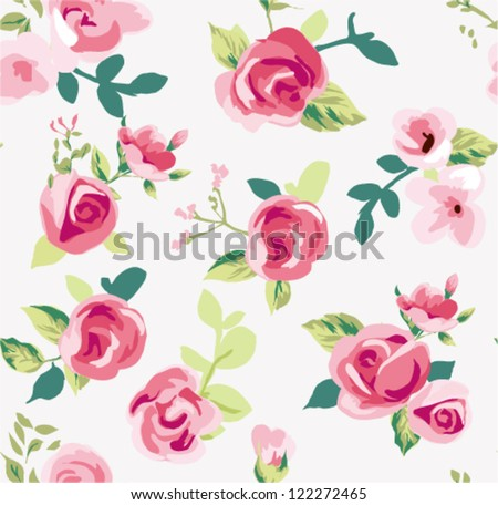 seamless tiny rose pattern background,flower,floral - stock vector