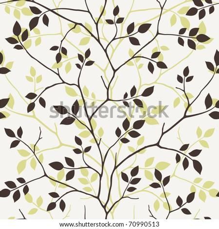Seamless tree - stock vector