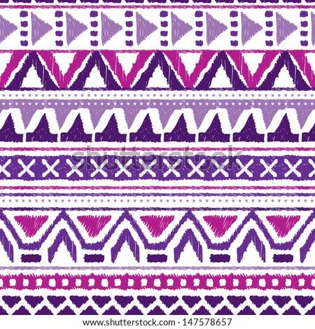 seamless trend purple violet aztec vintage stock vector