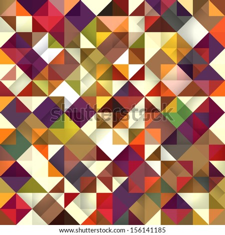 Seamless triangle abstract pattern. Vector illustration.  - stock vector