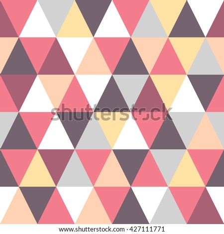 Seamless triangle colorful pattern. Vector geometric background. Abstract illustration in polygonal style.