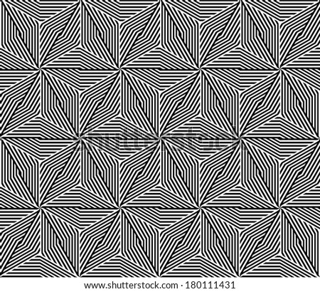 Seamless Triangle Elements Pattern. Vector Illustration - stock vector