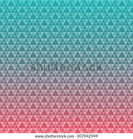 Seamless triangle pattern background design. vector stock eps 10 illustration - stock vector