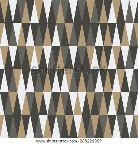 seamless triangle pattern design. vector illustration - stock vector