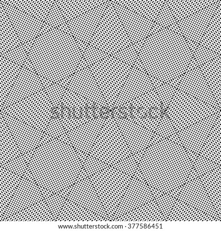 Seamless triangles and polygons pattern. Geometric textured background. Vector art. - stock vector