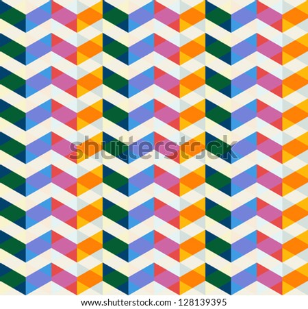 seamless triangles background - stock vector