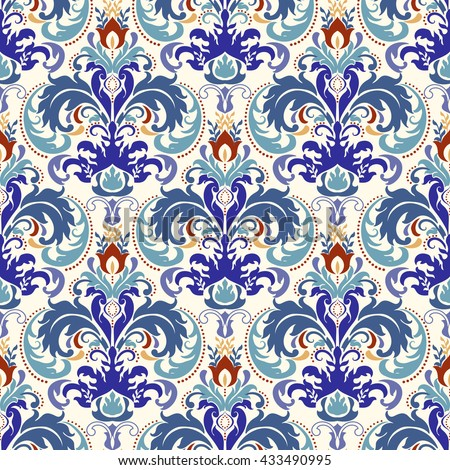 Seamless turkish colorful pattern. Endless pattern can be used for ceramic tile, wallpaper, linoleum, web page background. - stock vector