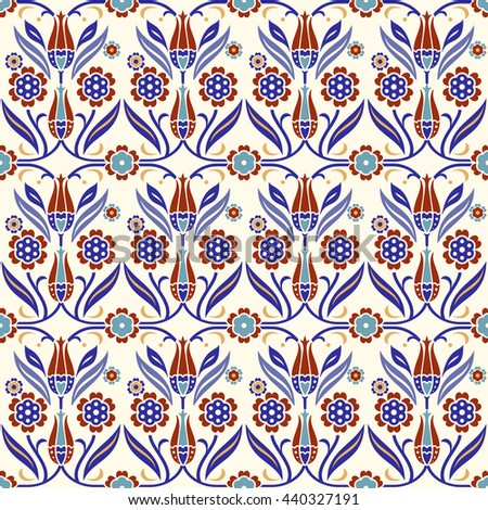 Seamless turkish colorful pattern. Endless pattern can be used for ceramic tile, wallpaper, linoleum, textile, web page background