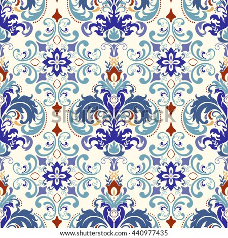 Seamless turkish colorful pattern. Endless pattern can be used for ceramic tile, wallpaper, linoleum, textile, web page background - stock vector