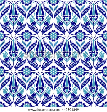 Seamless turkish colorful pattern. Endless pattern can be used for ceramic tile, wallpaper, linoleum, textile, invitation card, web page background. - stock vector