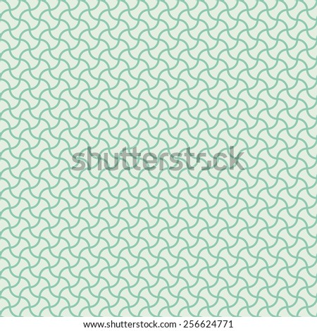 Seamless turquoise arc based geometric pattern vector - stock vector
