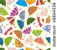 seamless umbrella pattern - stock vector