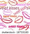Seamless valentine kiss wallpaper - stock photo