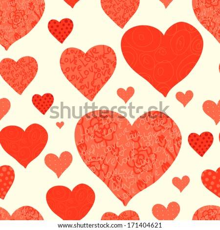 seamless valentine's day background - stock vector