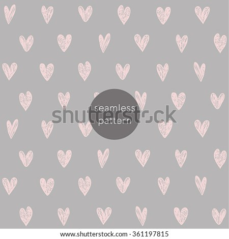 Seamless Valentine`s Day pattern. - stock vector