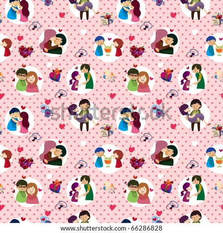 seamless Valentine's Day pattern - stock vector