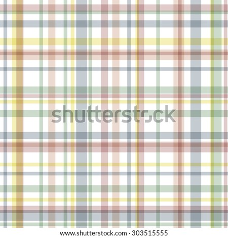 seamless various colored checkered table cloth background - stock vector