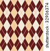 seamless vector argyle pattern, vertically and horizontally tile-able, editable and scalable - stock vector