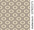 Seamless vector art geometric pattern background - stock vector