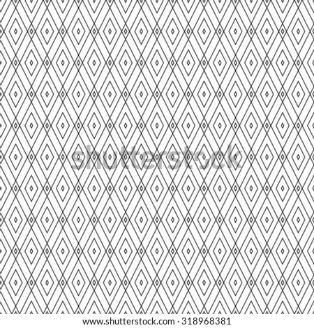 Seamless vector background. Black and white texture. Abstract pattern.