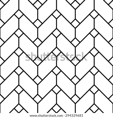 Seamless vector background. The geometric pattern by stripes, lines, rhombuses. - stock vector