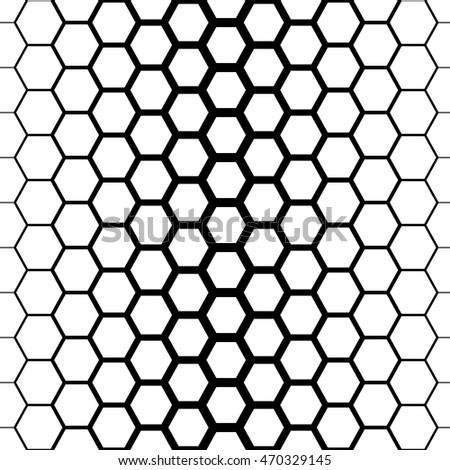 Honeycomb Background Seamless Hexagons Pattern Vector