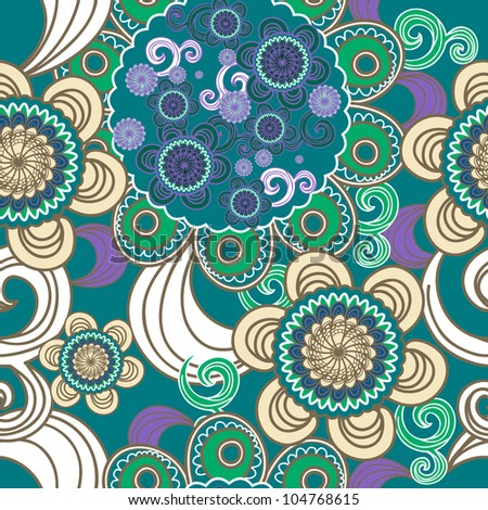 Seamless vector background with abstract pattern - stock vector