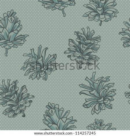 seamless vector background with cones.Vector contour patterns - stock vector