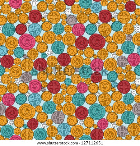 Seamless vector background with funny circles