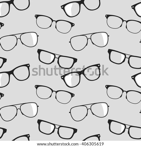 Seamless vector background with glasses - stock vector