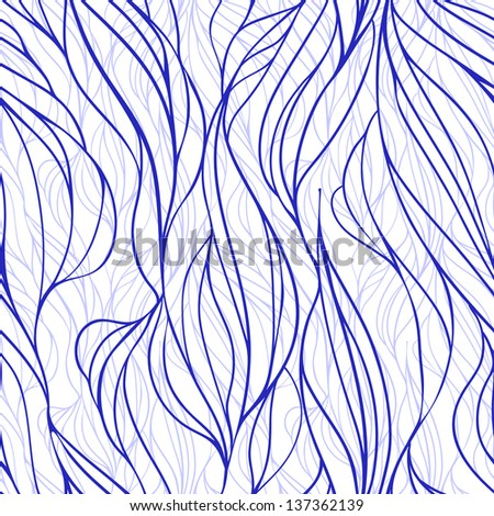 Seamless vector background with waves - stock vector
