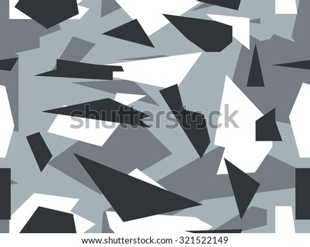 Seamless vector camouflage series - Alpine - stock vector